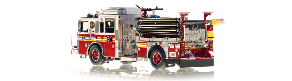 Production of FDNY Engine 34 is limited to 100 units.