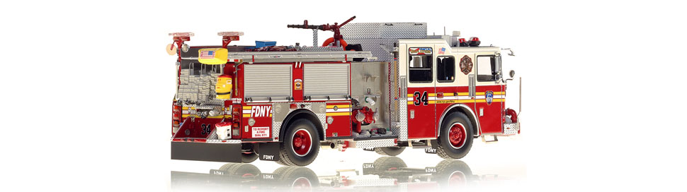 FDNY Engine 34 is hand-crafted using over 510 parts.