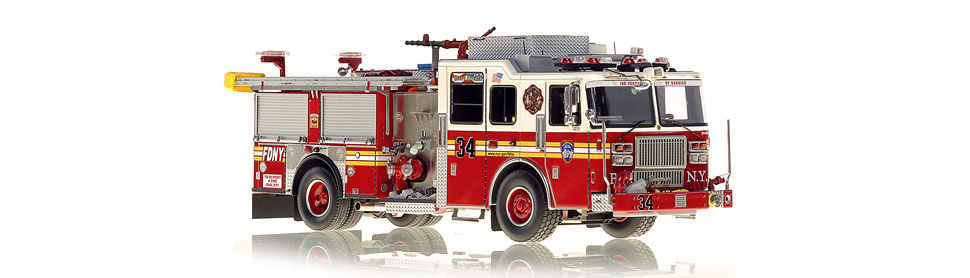 FDNY Engine 34 replica features razor sharp accuracy