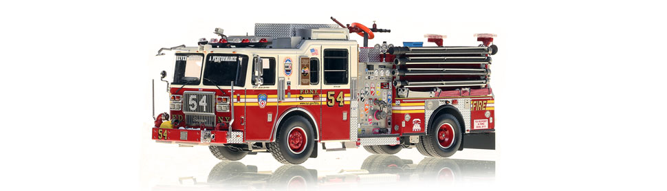 FDNY Engine 54 replica features razor sharp accuracy