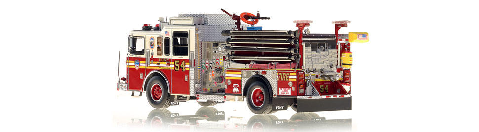 FDNY Engine 54 is hand-crafted using over 510 parts.