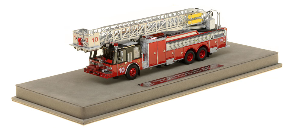 Tower Ladder 10 includes a fully custom display case
