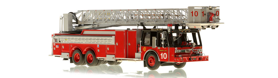 Production of Chicago Tower Ladder 10 is limited to 75 units