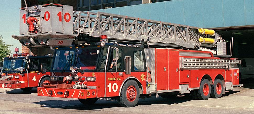 Chicago E-One Hurricane Tower Ladder 10