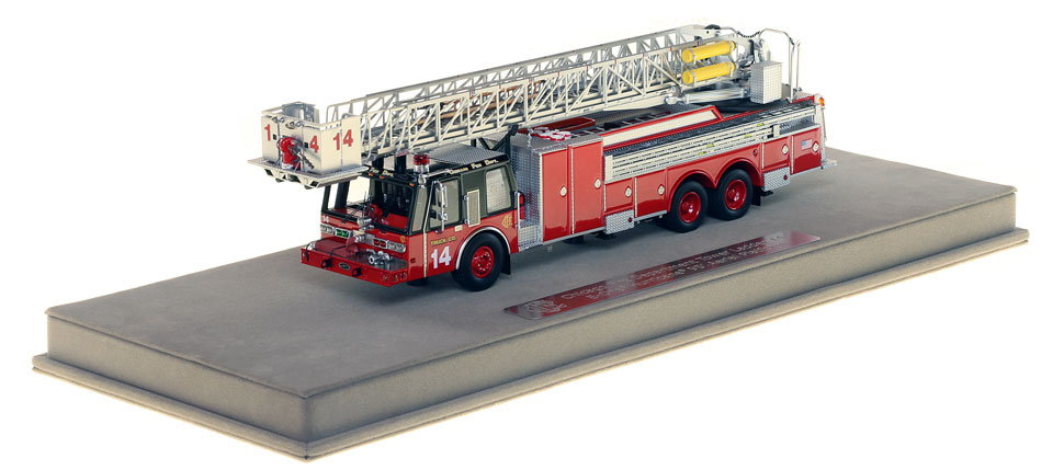 Tower Ladder 14 includes a fully custom display case