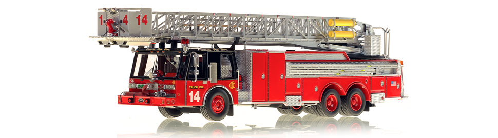 Production of Chicago Tower Ladder 14 is limited to 75 units