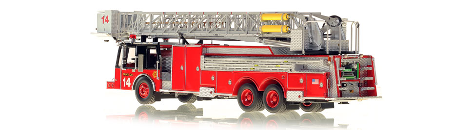 Chicago Tower Ladder 14 features over 750 intricate parts