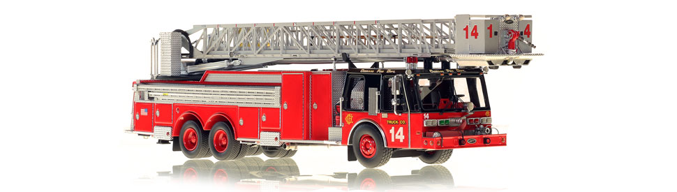 The first museum grade Chicago E-One Tower Ladder 14