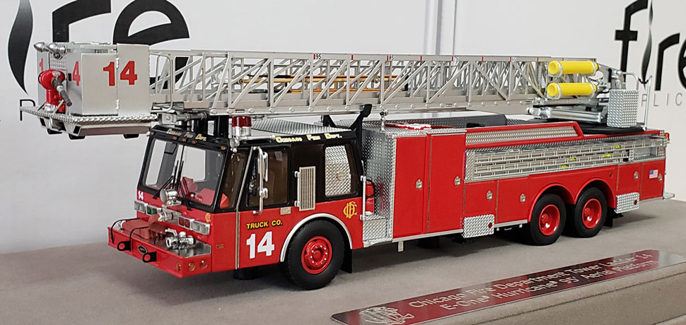 First production of Chicago E-One Hurricane Tower Ladder 14