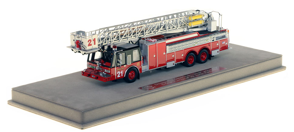 Tower Ladder 21 includes a fully custom display case