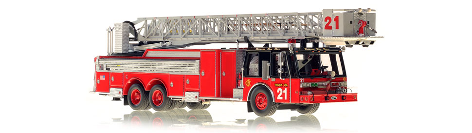 Production of Chicago Tower Ladder 21 is limited to 75 units