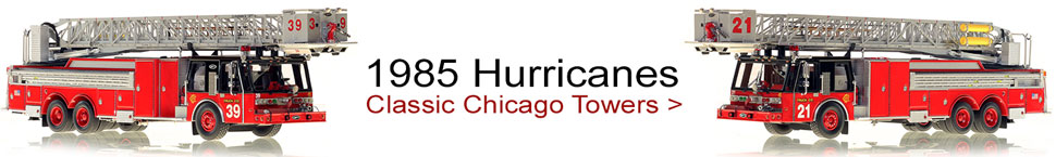 Classic 1985 Chicago E-One Hurricane Tower scale models