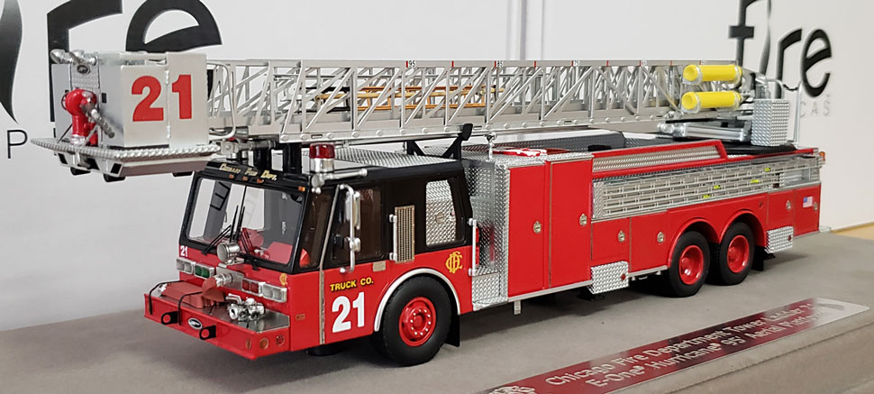 First production of Chicago E-One Hurricane Tower Ladder 21