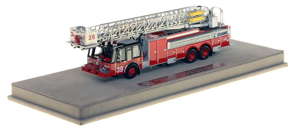 Tower Ladder 39 includes a fully custom display case