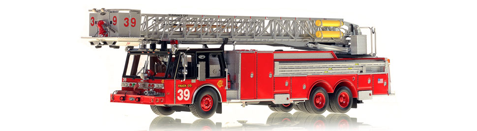 Production of Chicago Tower Ladder 39 is limited to 75 units