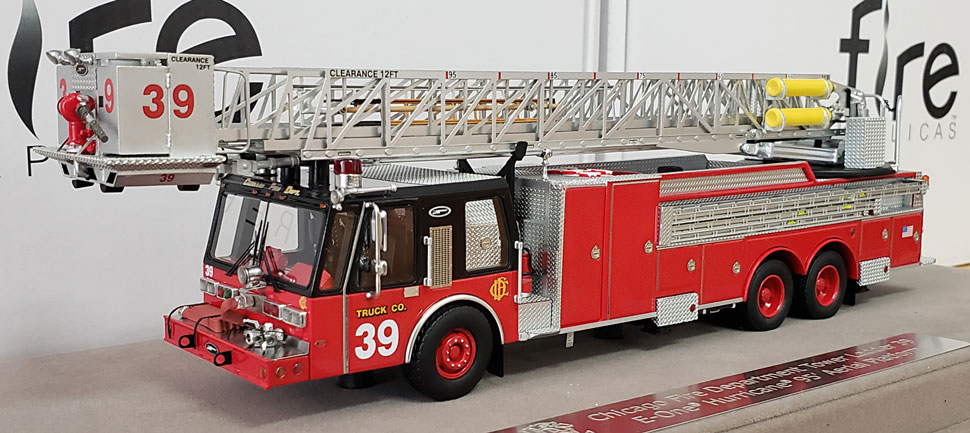 First production of Chicago E-One Hurricane Tower Ladder 39