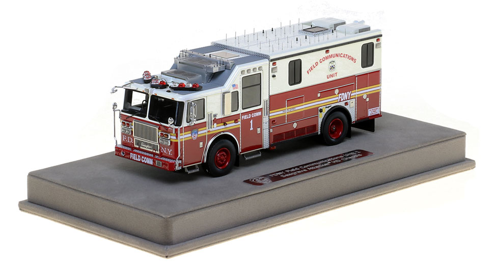 FDNY Field Comm 1 scale model includes a display-ready case