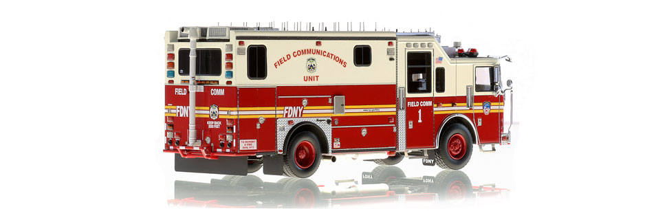 FDNY Field Comm 1 scale model is hand-crafted