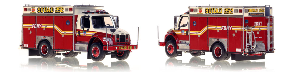 FDNY Squad 252 is hand-crafted and intricately detailed.