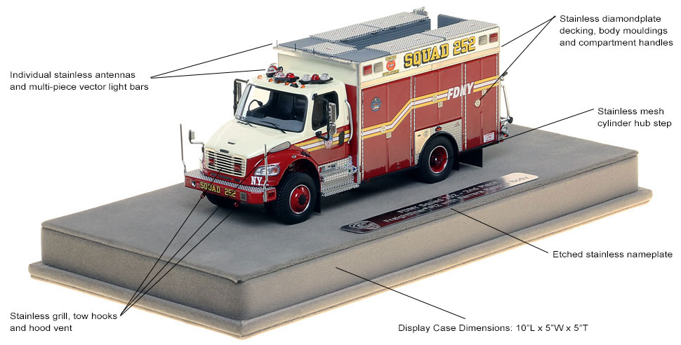 Specs and Features of the FDNY Squad 252 Second Piece scale model