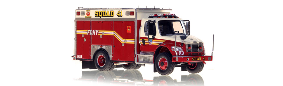 The first museum grade 1:50 scale model of FDNY second piece Squad 41