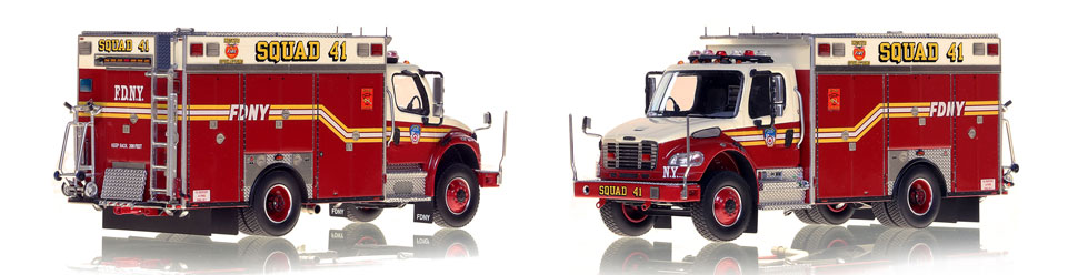 FDNY Squad 41 is hand-crafted and intricately detailed.