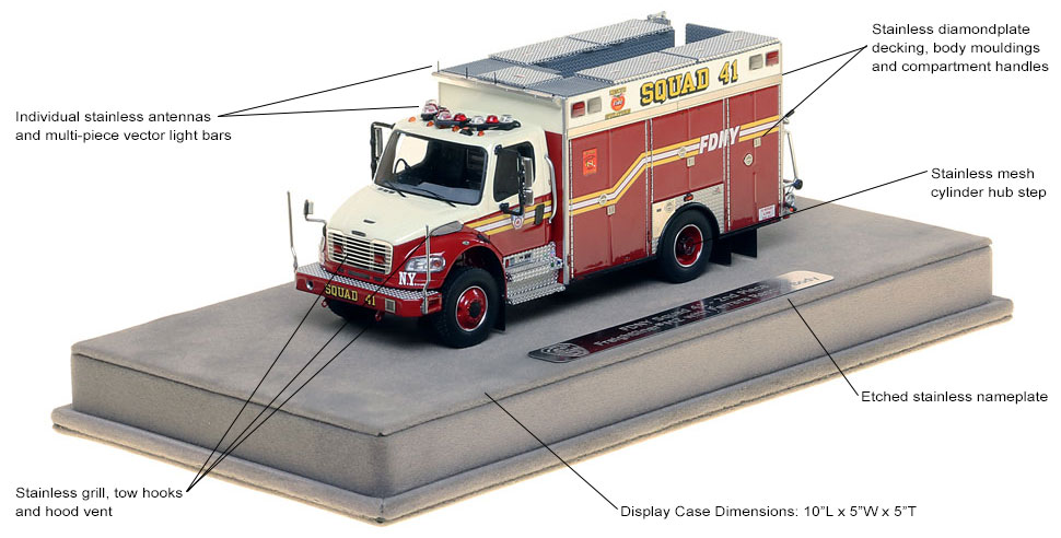 Specs and Features of the FDNY Squad 41 Second Piece scale model