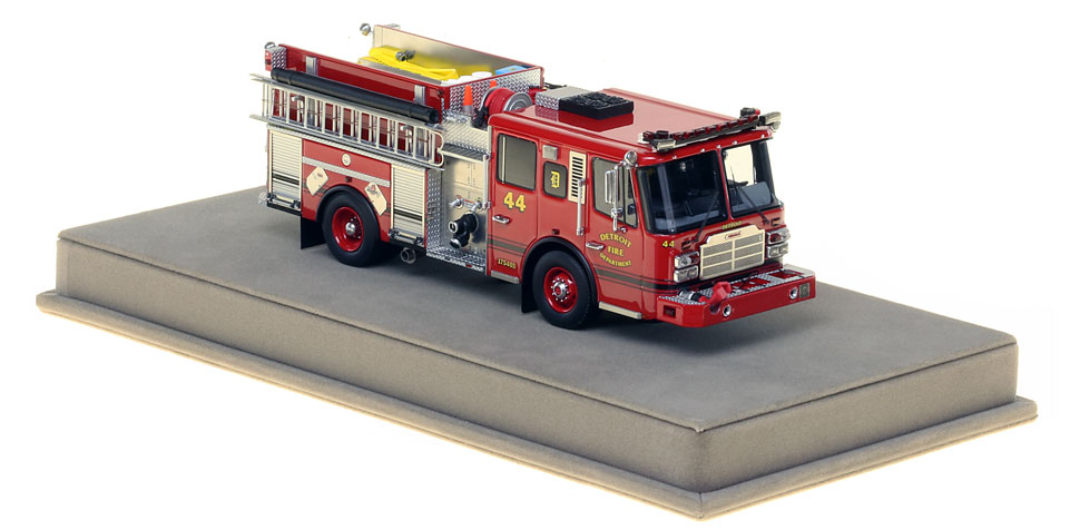 Detroit Engine 44 includes a fully custom display case.