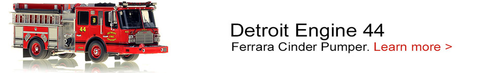Detroit Fire Department Ferrara Engine 44 scale model