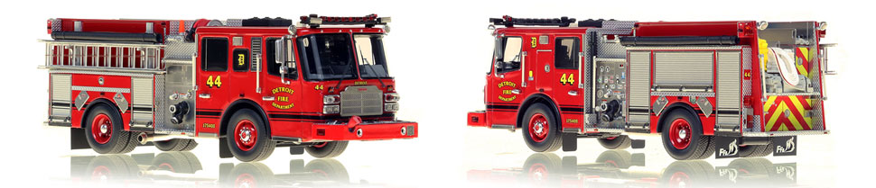 Detroit Engine 44 scale model is a museum grade, 1:50 scale replica.