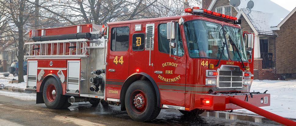 Detroit Fire Department Engine 44 courtesy of Gordon Nord