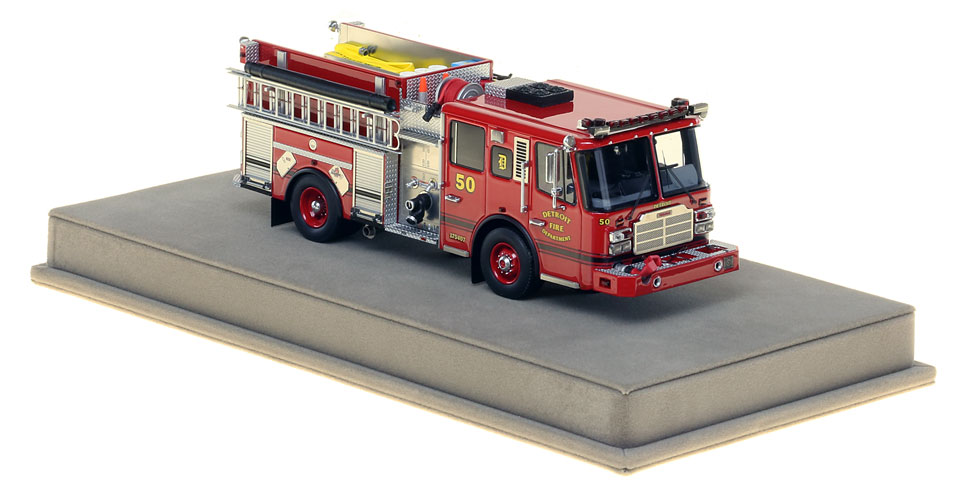 Detroit Engine 50 includes a fully custom display case.