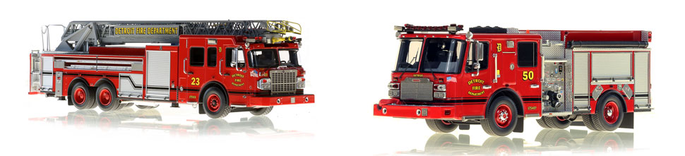 Detroit Engine 50 scale model is museum grade and pairs with Ladder 23