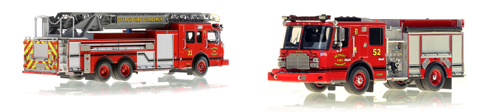 Detroit Engine 52 scale model is museum grade and pairs with Ladder 31