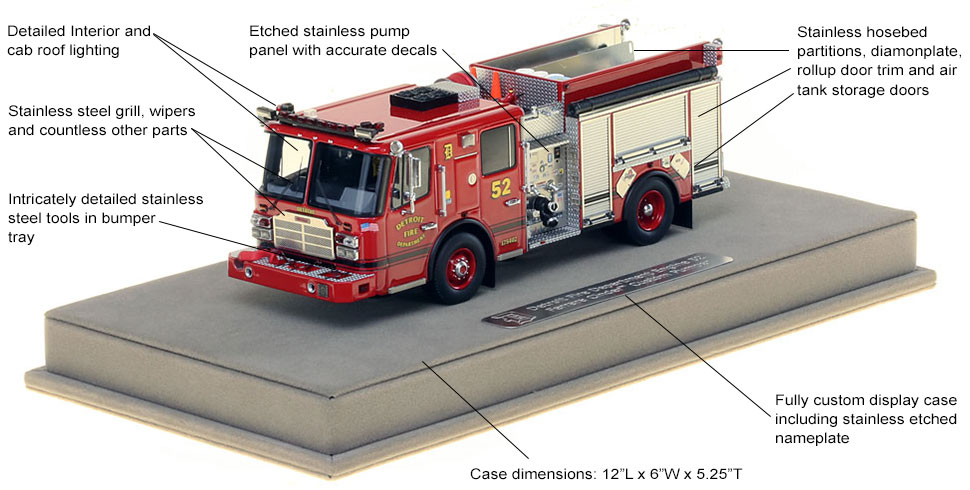 Detroit Engine 52 scale model features and specs
