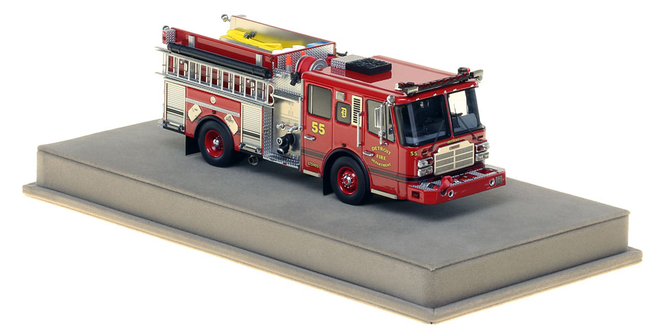 Detroit Engine 55 includes a fully custom display case.