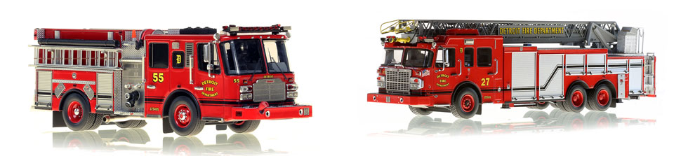 Detroit Engine 55 scale model is museum grade and pairs with Ladder 27
