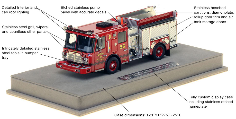 Detroit Engine 55 scale model specs and features