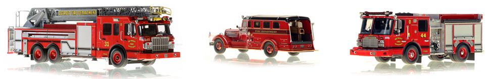 Shop 1:50 scale model of Detroit Fire Department apparatus