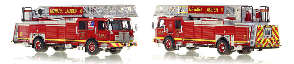 Newark Fire Department Ladder 11 includes a fully custom case.