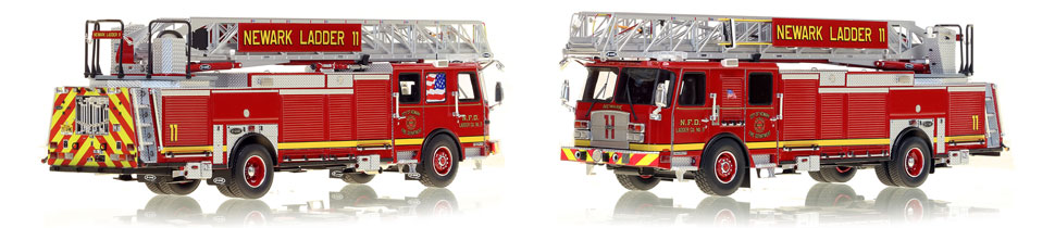 Newark Fire Department Ladder 11 is hand-crafted from over 600 parts