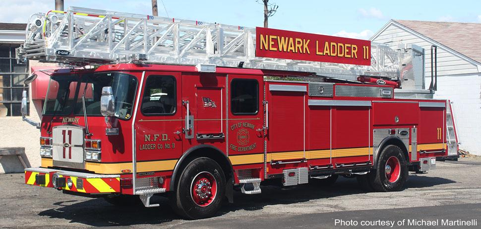 Newark Fire Department Ladder 11 courtesy of Michael Martinelli