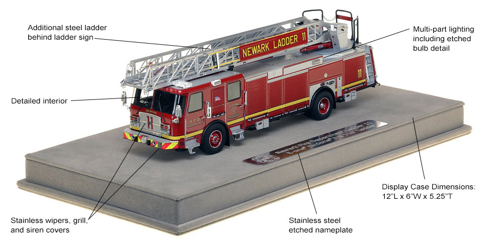 Features and specs of Newark Ladder 11 scale model