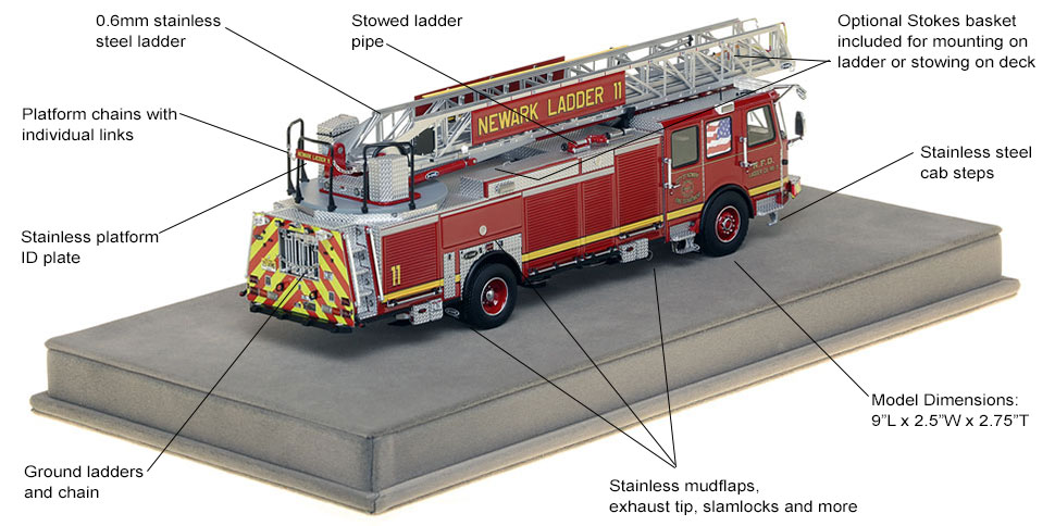 Specs and features of Newark Ladder 11 scale model