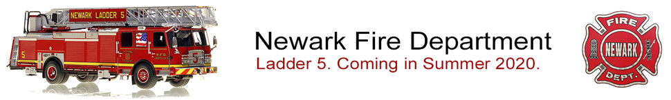 Newark Fire Department E-One Ladder scale models coming this Summer.