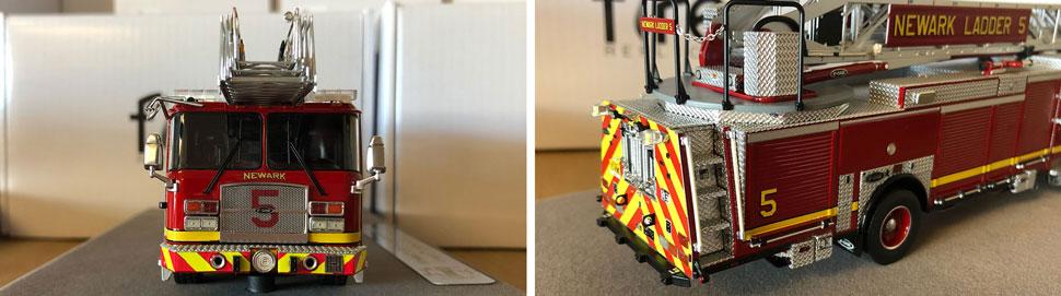Closeup pics 5-6 of Newark Fire Department Ladder 5 scale model