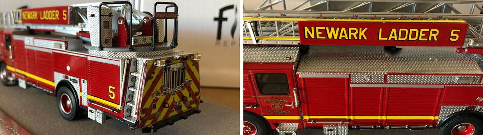 Closeup pics 9-10 of Newark Fire Department Ladder 5 scale model