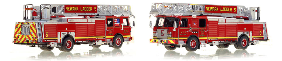 Newark Fire Department Ladder 5 is hand-crafted from over 600 parts