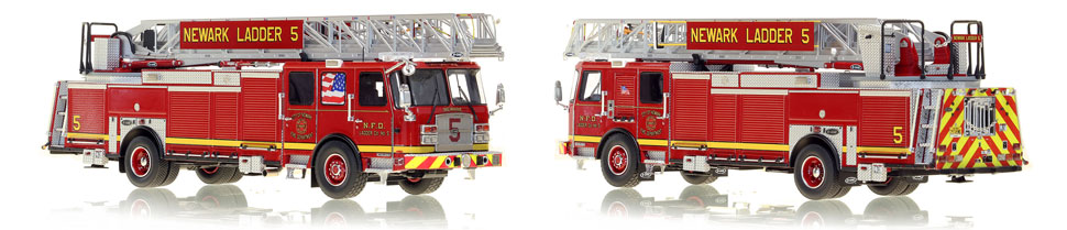 Newark Fire Department Ladder 5 includes a fully custom case.