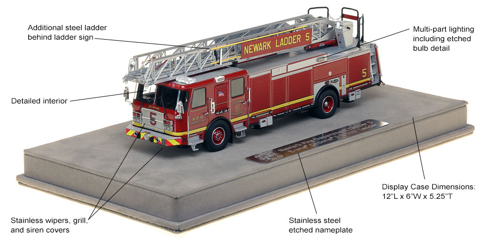 Features and specs of Newark Ladder 5 scale model